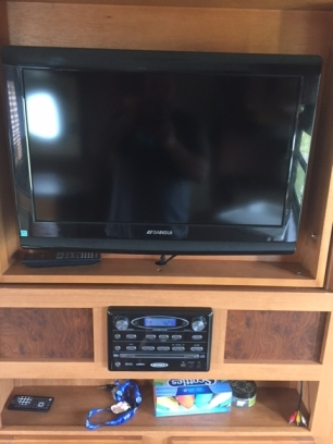 TV in Camper 1 High Tide Trailer Rentals