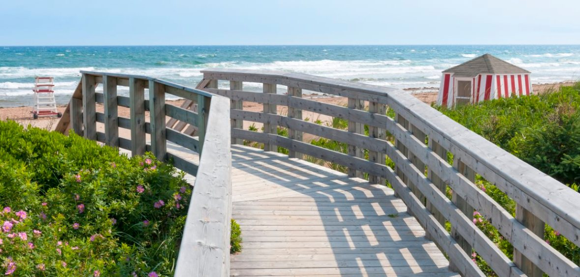 boardwalk to PEI beach