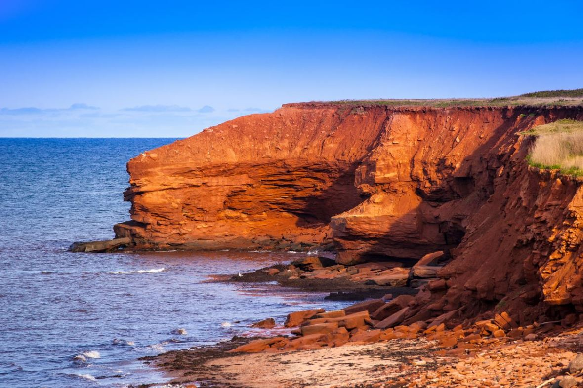 PEI's famous red cliffs on the north shore